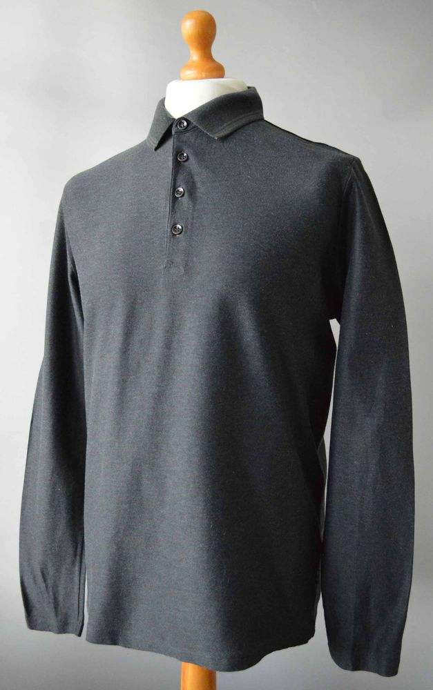 cae6ea23 Men's Grey Hugo Boss Black Label Long Sleeved Polo Shirt Size L Large.  #fashion #clothes #shoes #accessories #mensclothing #shirtstops (ebay link)