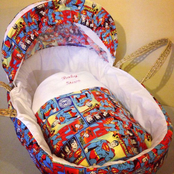 Superman Moses basket cover set