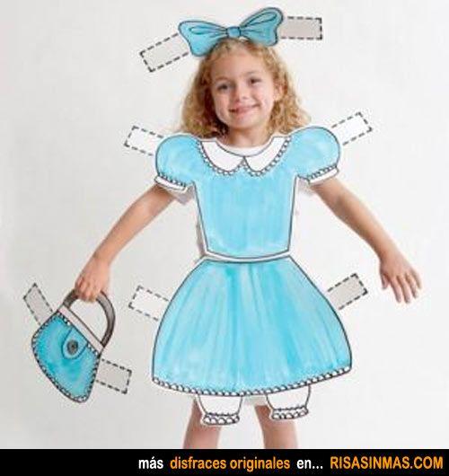 Disfraces caseros: muñeca recortable.