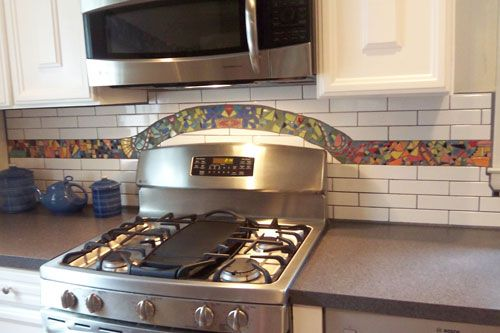 residential kitchen backsplash in lyric decades 2 x 8