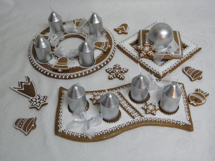 Adventní svícny stříbrné