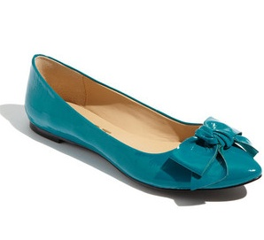 shoe hunting  - turquoise flats