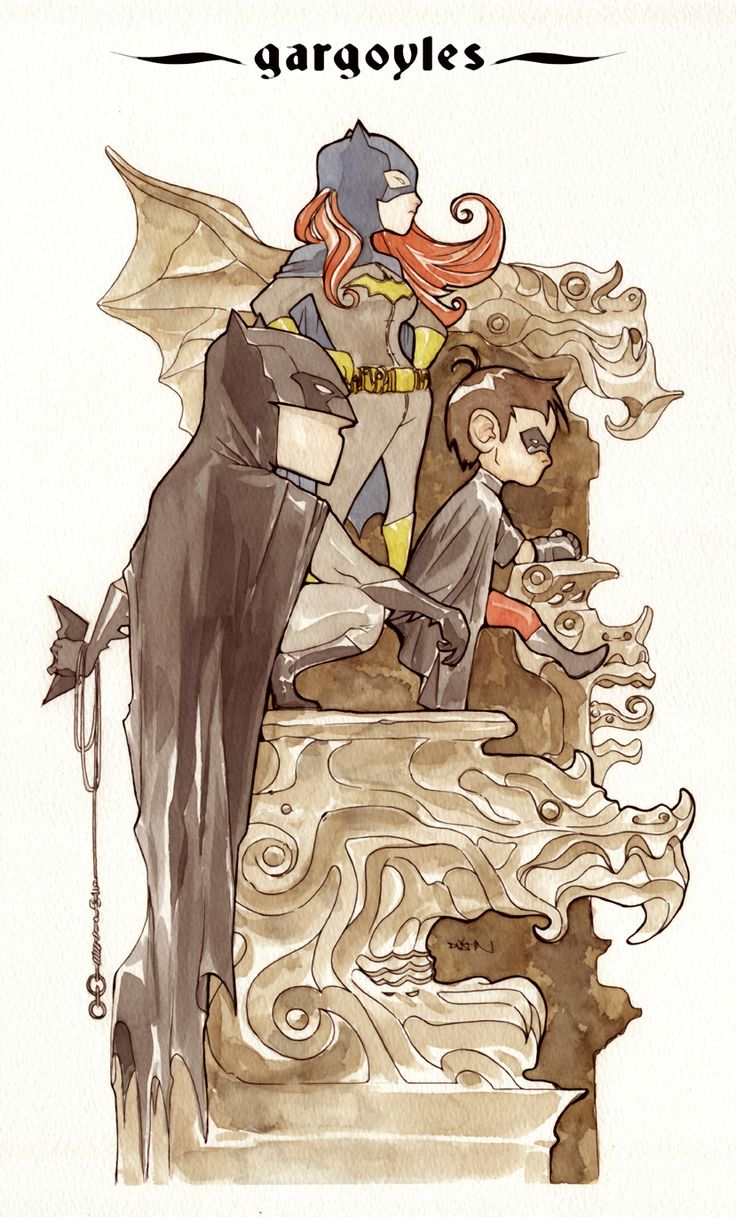Gargoyles: Batman Families, Comic Books, Dustin Nguyen, Comic Art, Duss005 Deviantart Com, Super Heroes, Bats Fam, Watercolor Illustrations, Batman Univ