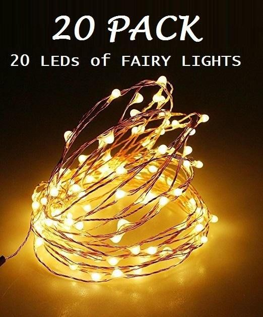 20 Pack of 20 LEDs Fairy Lights Wedding Decorations lights