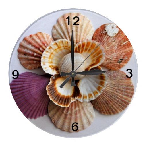 how to make a seashell clock