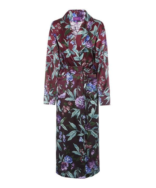 3b7a087159 Desert Rose Silk Satin Long Robe