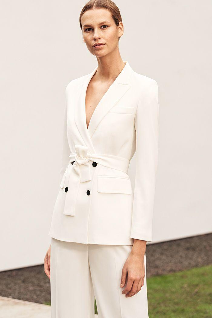 f5037c882 Almeida Jacket White Crepe | Clothes | Dresses, Event dresses, Fashion