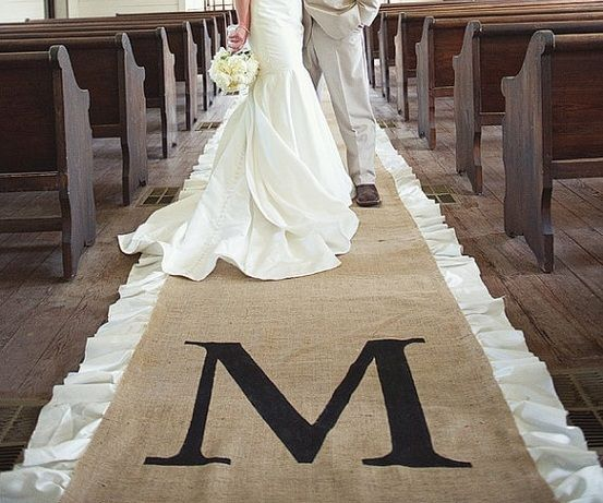 M Aisle Runner- WEdding Blog
