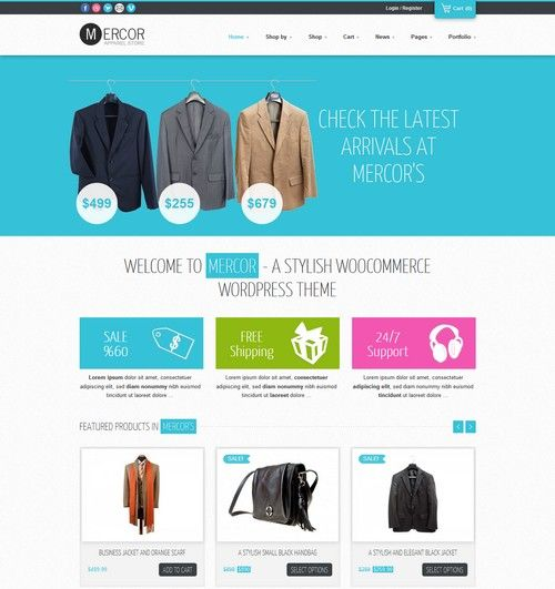 Mercor - Responsive Ecommerce WordPress Theme