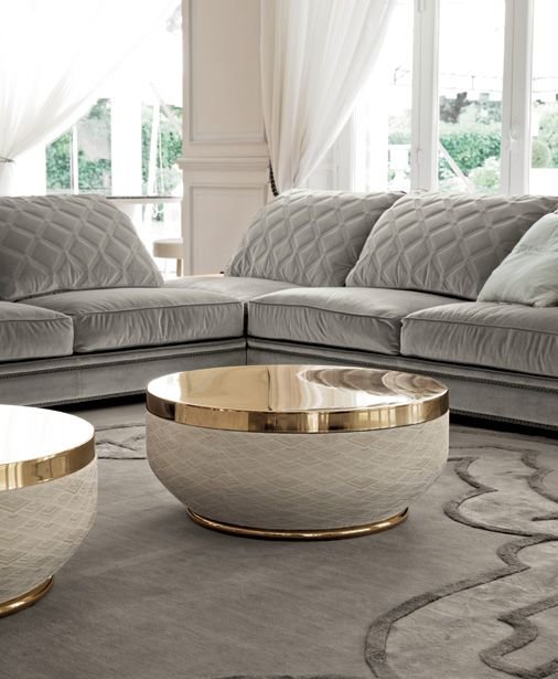 Longhi Coffee Table : These Are Like Big Jars Of Cream, Luxury Center Table,  Gold Decor