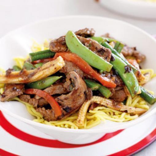 Beef and black bean stir-fry