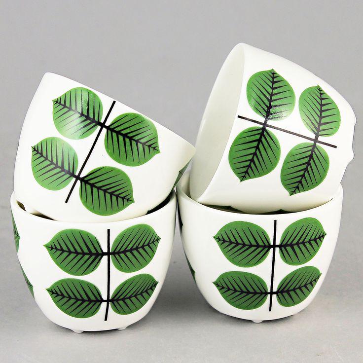 Stig Lindberg (Bersa 21th Century) Four Enchanting Eggcups