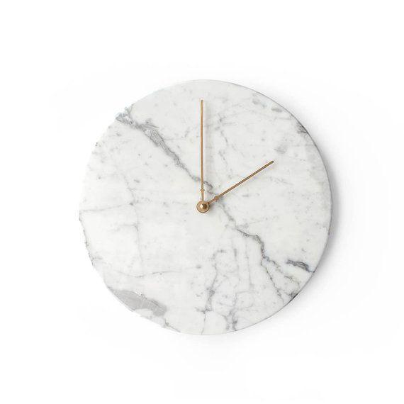 Marble Wall Clock  Grigio Gioia by obiekt on Etsy