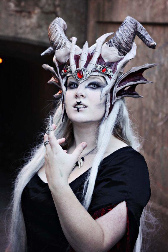Dracolish Couronne, morts-vivant, zombie, bijoux, cuir, OS, sorcière, costume