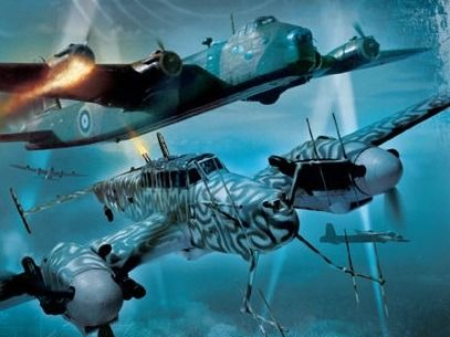 Me-110G Nightfighters Hunting Short Sterling's