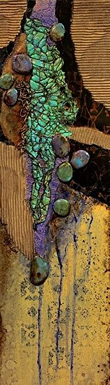 Navajo Trail, 050815 by Carol Nelson mixed media ~ 24 x 7