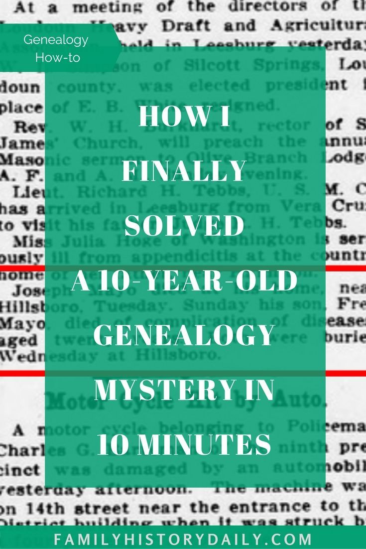 How I finally solved a 10 year old genealogy mystery in  minutes