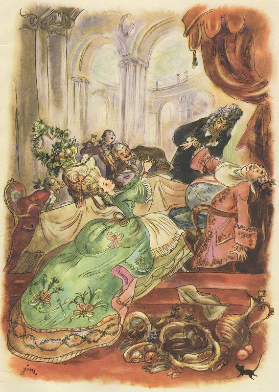 "The Nutcracker and the Mouse King"" 1951 - illustration by J. M. Szancer"