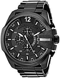 Montre Diesel Noir Homme DZ4283 - Quartz - Chronographe - Cadran et Bracelet Acier Noir - Date