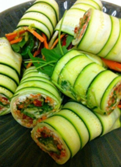 Sushi with cucumber skin