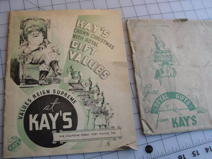 1935 CHRISTMAS SALES CATALOGUE/ KAY JEWELRY COMPANY #KayJewelers