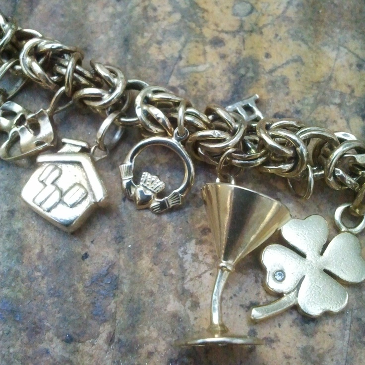 A beautiful 9ct yellow gold charm bracelet that was just dripping with character and history. The owner had a charm representing every country she had been to and let me tell you, she had seen more places than most rock bands!