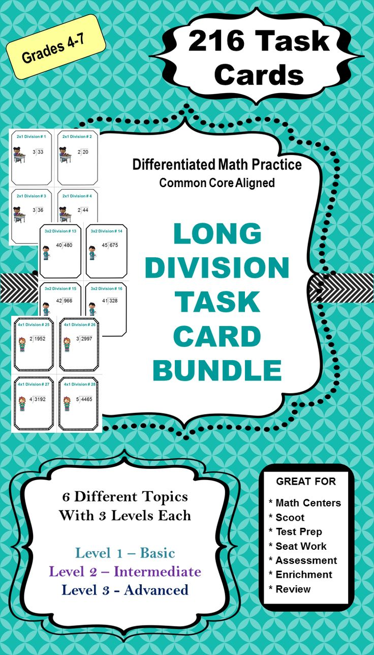 24 best Long Division images on Pinterest | Teaching math, Fourth ...