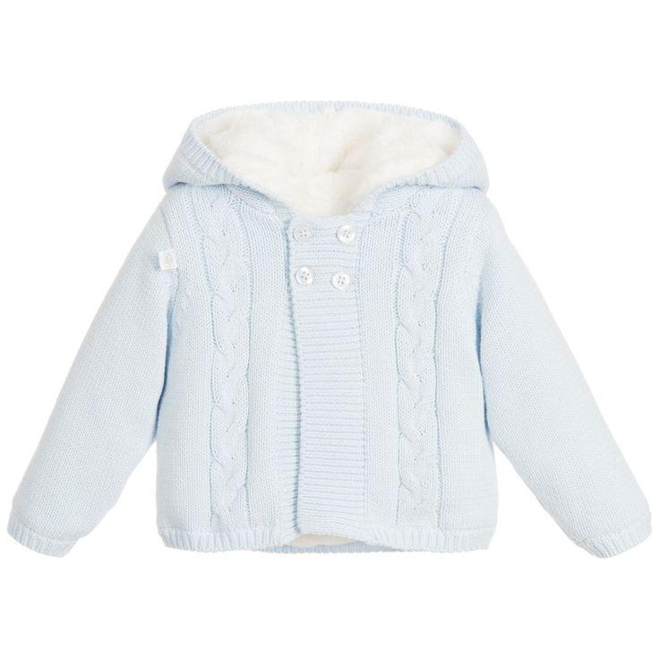 Absorba - Boys Blue Synthetic Fur Pram Coat | Childrensalon