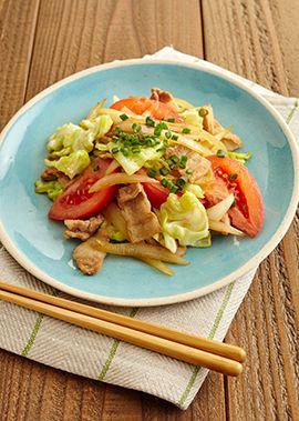 トマトとキャベツの炒め物 のレシピ・作り方 │ABCクッキングスタジオのレシピ | 料理教室・スクールならABCクッキングスタジオ