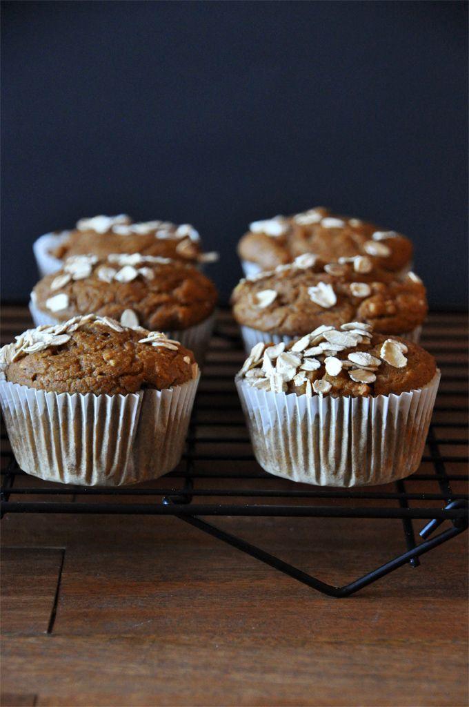 Vegan Pumpkin Apple Muffins - by Minimalist Baker