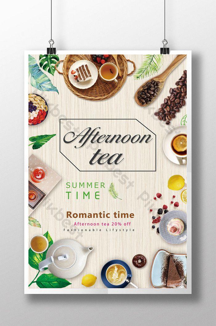 Fresh Afternoon Tea Restaurant Coffee Dessert Poster Design Co