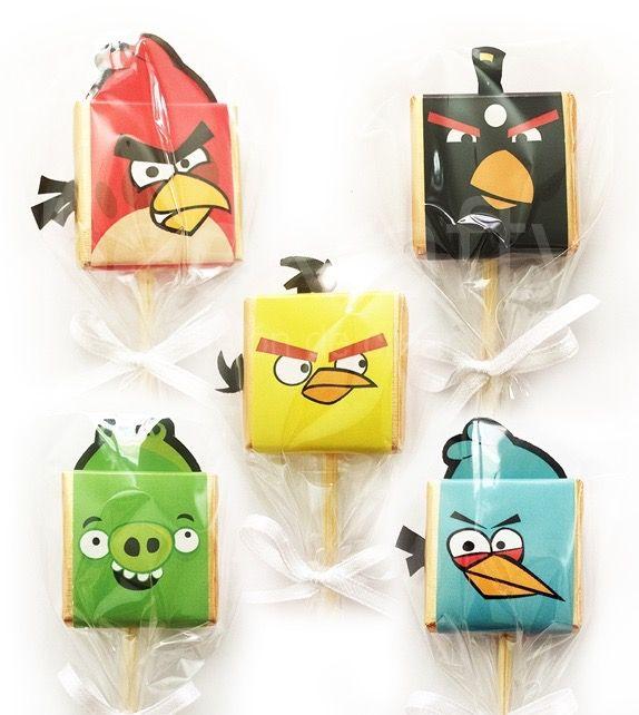 Choco piruletas de Angry Birds. Consíguelas en www.beekrafty.com #beekrafty #pasionporcrear