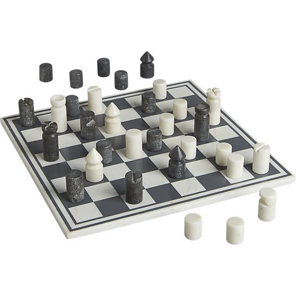 A Minimalist Marble Chess Set Thats A Real Game Changer -2528