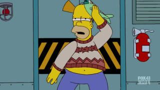 PÅVIRKET: Homer blir ikke bare påvirket av norsk brennevin.