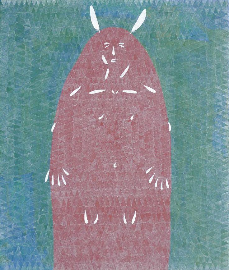 Every Coat Is Fragile, acrylics on canvas, 115x100 cm, 2014