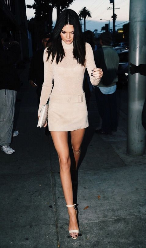 in all nude outfit like Kendall Jenner? yes please