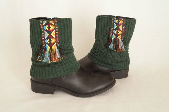 BS5387 Native American boho boot cuffs-Boot covers-Gypsy by bstyle