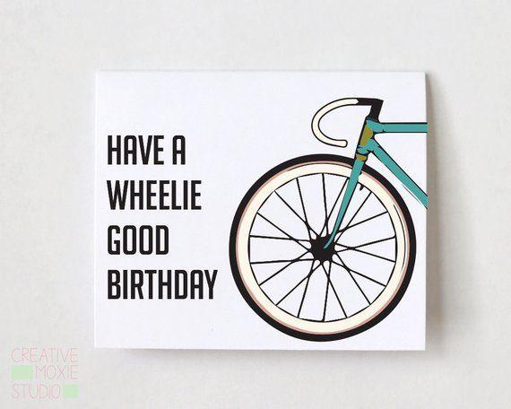 Have A Wheelie Good Birthday Card Birthday Card Bike Card Funny Birthday Card Bday Card 40th Birthday 30th Brithday 50th Bday In 2021 Cool Birthday Cards Bike Card Funny Birthday Cards