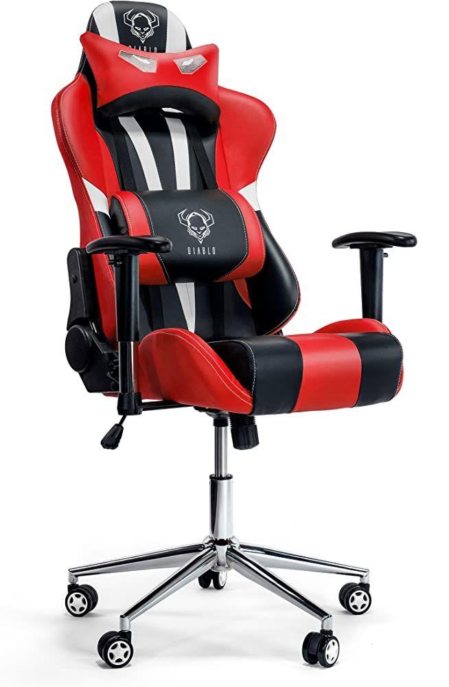 Diablo X Eye Gaming Stuhl Verstellbare Armlehnen Belastbar Bis 150 Kg Wippfunktion Lendenkissen Kunstleder Farbauswahl Schwa In 2020 Lendenkissen Kunstleder Armlehnen