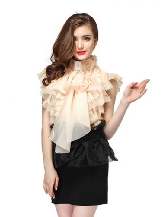 Sleeveless Blouse Ruffles 52