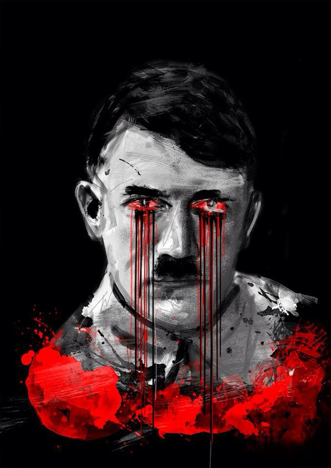 @hitler @war @beast @beardman @work @portrait