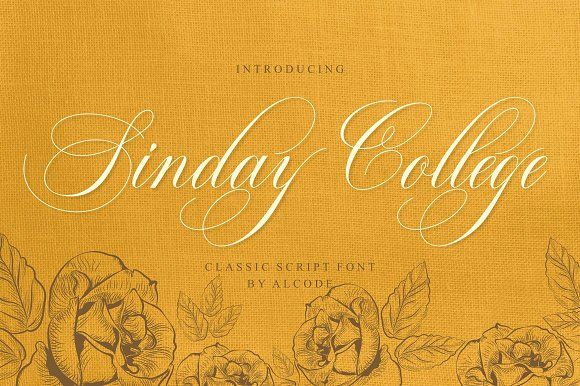 Sinday College (Intro Sale) by Alcode on @creativemarket