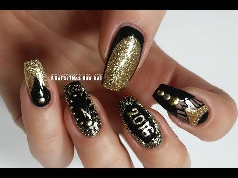 183 best nails nails nails khrystynas nail art videos images three nail art designs for new yearschristmas holidays khrystynas nail art prinsesfo Image collections