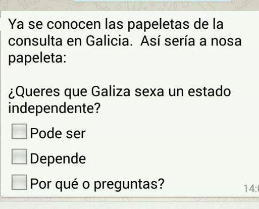 Un poco de humor mañanero.....y de #retranca gallega #Galicia #independencia