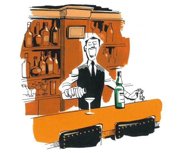 Barman : illustrated by Satoshi Hashimoto www.dutchuncle.co.uk/satoshi-hashimoto-images absolut-bares.jpg (640×533)