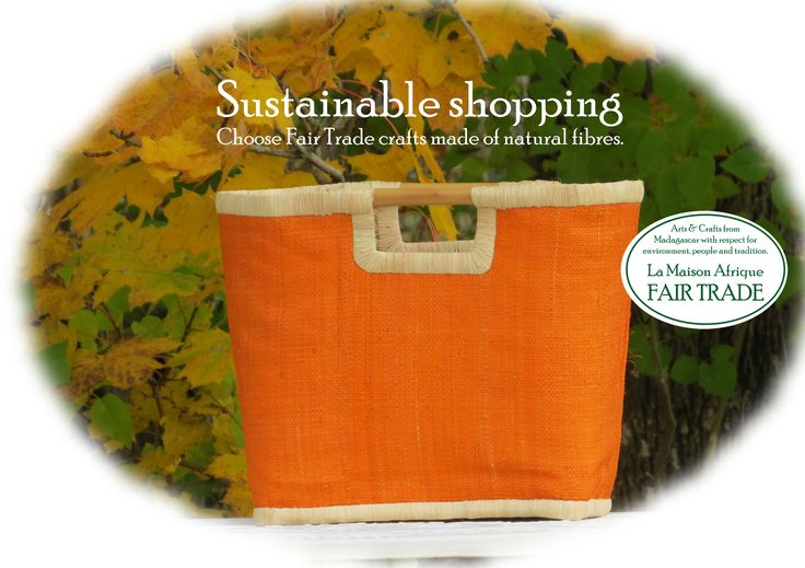 Sustainable shopping - Choose Fair Trade Crafts made of natural fibres. #fairtrade #sustainable #noplastic