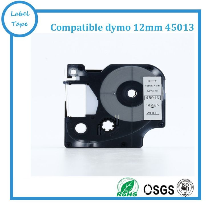 Top quality Free shipping 3pcs/lot  45013 Compatible Dymo D1 Label manager 12mm Black on White for Dymo Label Printer