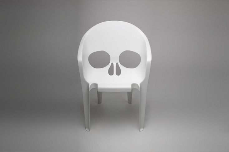 """From the Pool studio based in Paris - Fiberglass chair entitled: """"Remember you that you will die""""  Photos: Benjamin Le Du"""