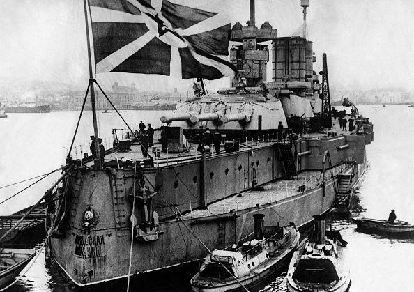 Soviet Union Warship sailing under the flag of the Soviet navy Photographer…