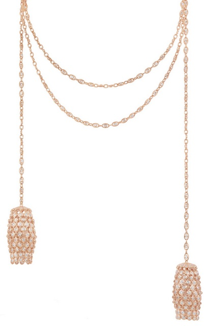 Rapunzel necklace inspired by the movie Tangled. From Disney and Chopard's Disney princess collection. Via Diamonds in the Library.